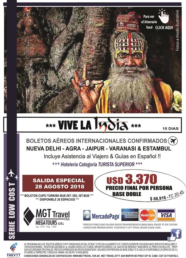 VIVE LA INDIA & ESTAMBUL ** LOW COST ** - CERRADA !!